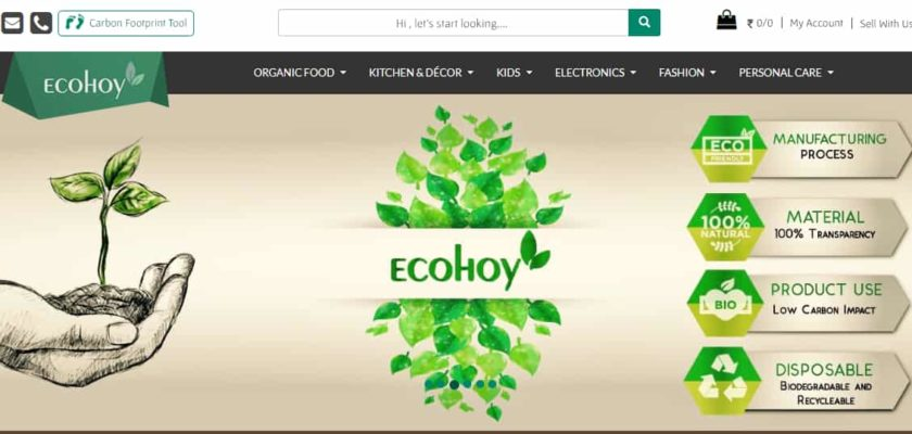 EcoHoy-The Eco-Friendly website landing page screenshot